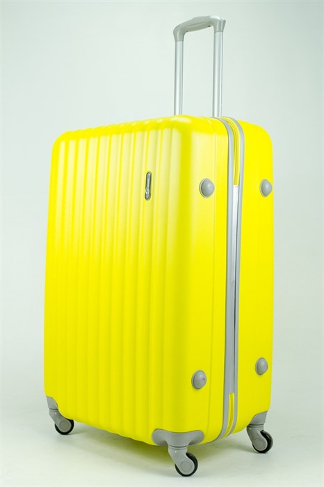 Чемодан большой ABS TT (верт  полоски) желтый - фото 34309