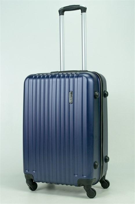 Чемодан средний ABS Journey (8 верт  полос ) темно-синий - фото 34330