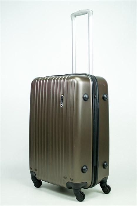Чемодан средний ABS Journey (8 верт  полос ) коричневый - фото 34738