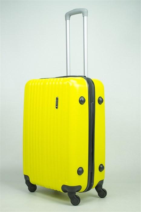 Чемодан средний ABS Journey (8 верт  полос ) желтый (Ч) - фото 34750