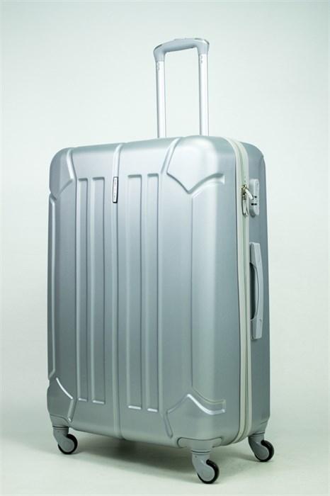 Чемодан большой ABS KK (жук) серебро (С) - фото 34826