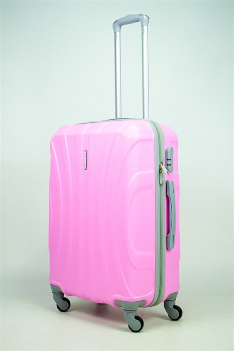 Чемодан средний ABS KK (черепаха) розовый - фото 34882