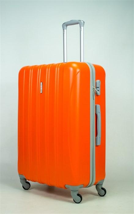 Чемодан большой ABS KK 5(4) полос  оранжевый (С) - фото 34933