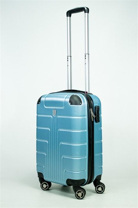 Чемодан маленький PC голубой металлик - фото 34939