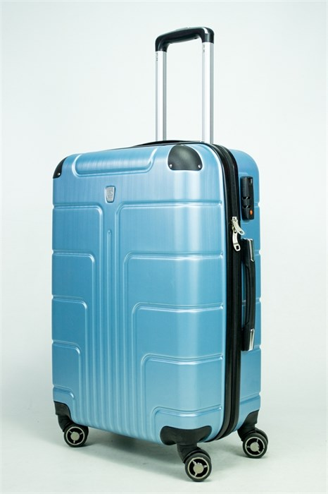 Чемодан средний PC голубой металлик - фото 34945