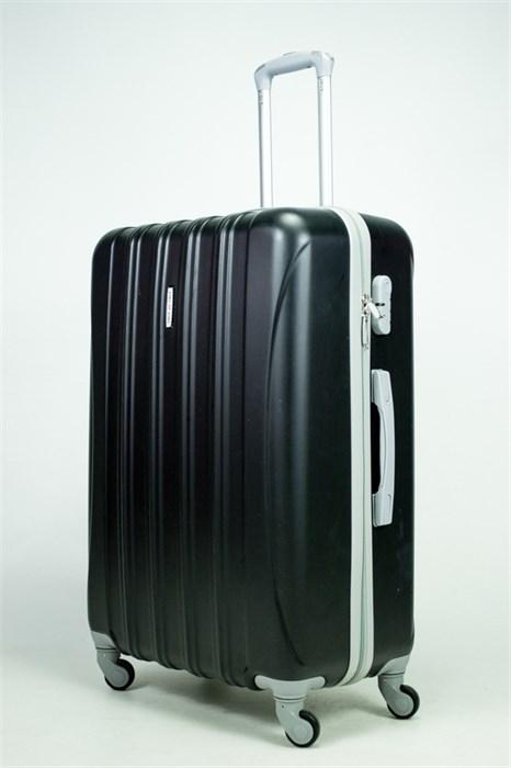 Чемодан большой ABS KK 5(4) полос  черный - фото 34976