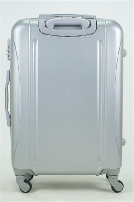 Чемодан средний ABS KK 6 полос  серебро - фото 35045
