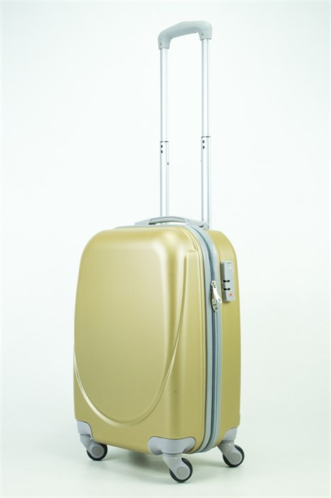 Чемодан маленький ABS 360-гр  золото - фото 35230