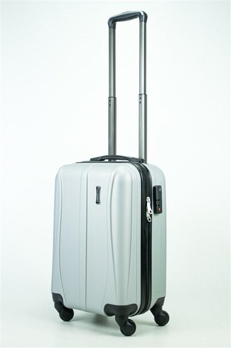 Чемодан маленький ABS Freedom (трезубец) серебро (Ч) - фото 35255