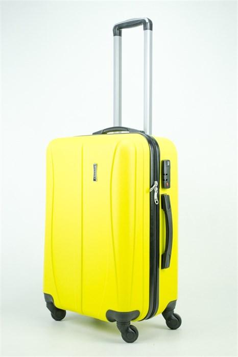 Чемодан средний ABS Freedom (трезубец) желтый (Ч) - фото 35279