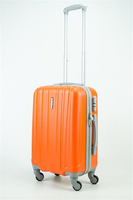 Чемодан маленький ABS KK 6 полос  оранжевый (С) - фото 35323