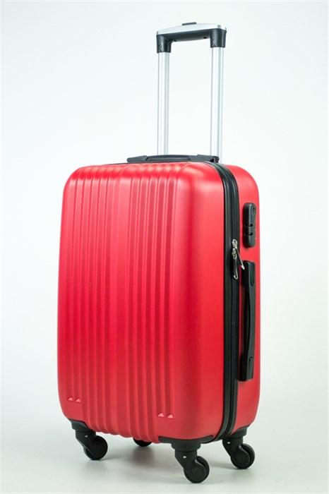 Чемодан маленький ABS NN (10 верт полос) красный (Ч) - фото 35369