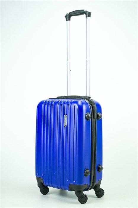 Чемодан маленький ABS Journey (8 верт  полос ) ярко-синий (Ч) - фото 35397