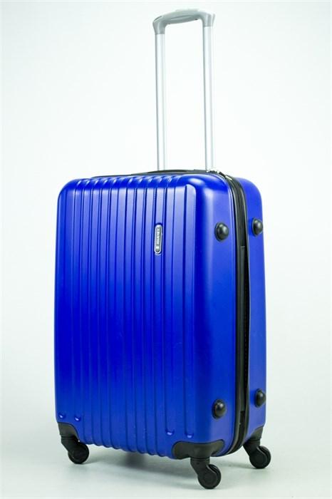 Чемодан средний ABS Journey (8 верт  полос ) ярко-синий (Ч) - фото 35409