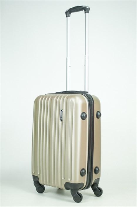 Чемодан маленький ABS Journey (8 верт  полос ) песочный (Ч) - фото 35602