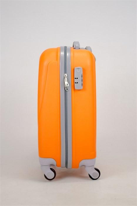 Чемодан маленький ABS 360-гр  оранжевый (С) - фото 35835