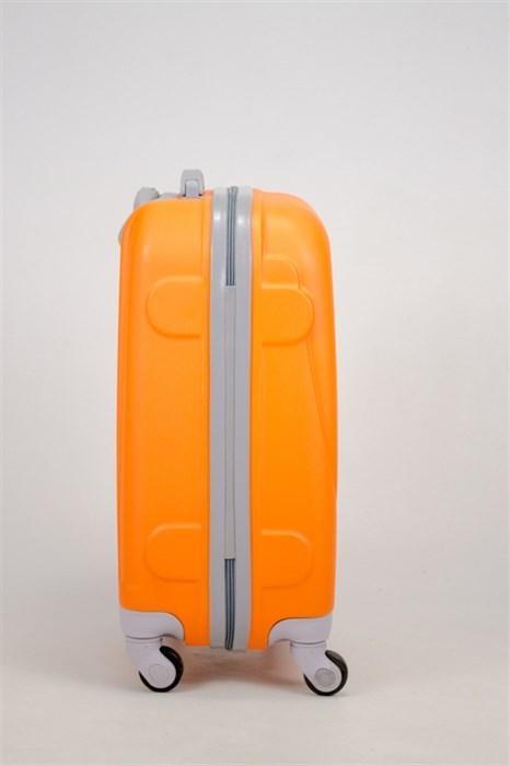 Чемодан маленький ABS 360-гр  оранжевый (С) - фото 35836