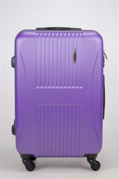 Чемодан средний ABS Hossoni (8 верт  полос ) фиолетовый - фото 35869