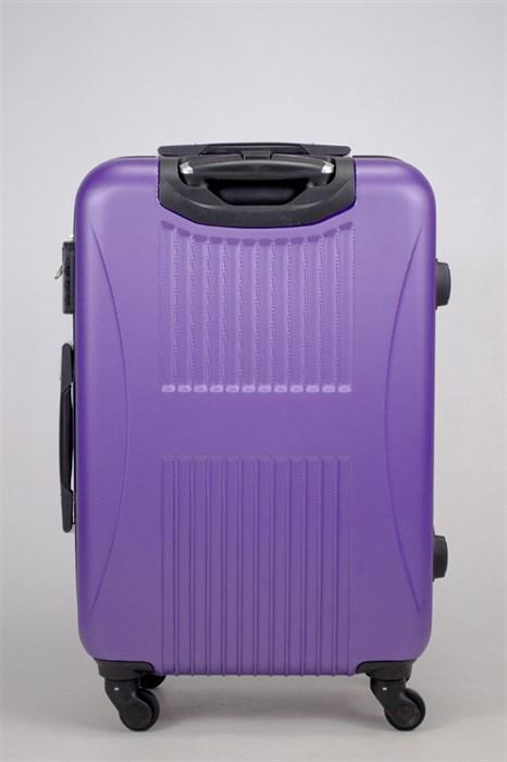 Чемодан средний ABS Hossoni (8 верт  полос ) фиолетовый - фото 35870