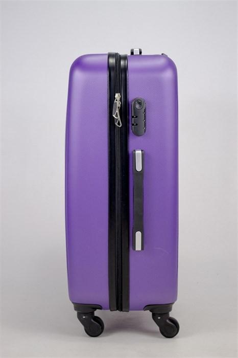 Чемодан средний ABS Hossoni (8 верт  полос ) фиолетовый - фото 35871