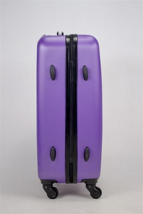 Чемодан средний ABS Hossoni (8 верт  полос ) фиолетовый - фото 35872