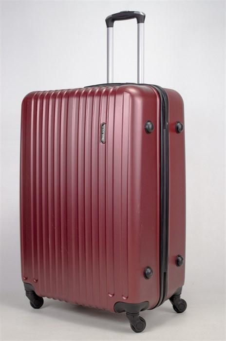 Чемодан большой ABS Journey (8 верт  полос ) бордовый - фото 35880