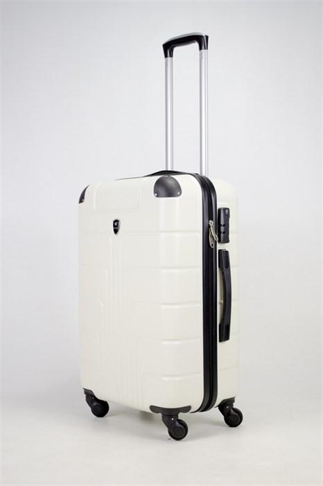 Чемодан средний ABS Smart Travel белый - фото 36025