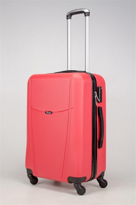 Чемодан средний ABS TT (буква Н)  красный - фото 36352