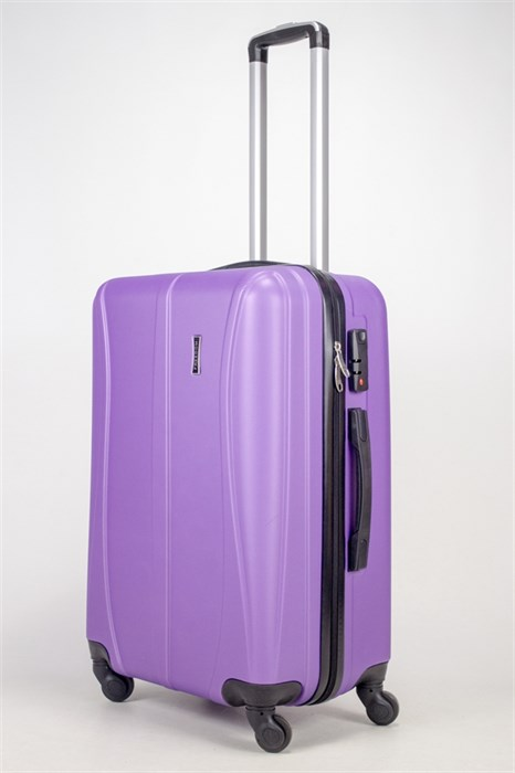 Чемодан средний ABS Freedom (трезубец) фиолетовый (Ч) - фото 36679