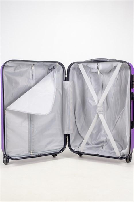 Чемодан средний ABS Freedom (трезубец) фиолетовый (Ч) - фото 36684