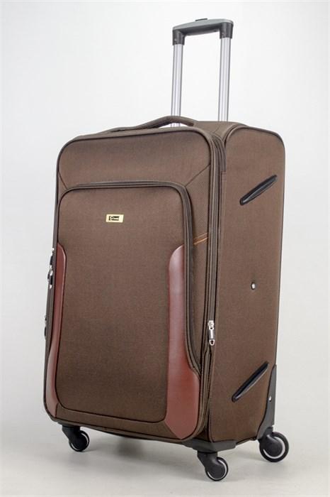 Чемодан текстильный большой TT коричневый - фото 36790