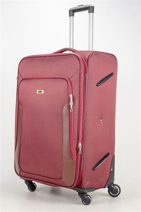 Чемодан текстильный большой TT бордовый - фото 36802