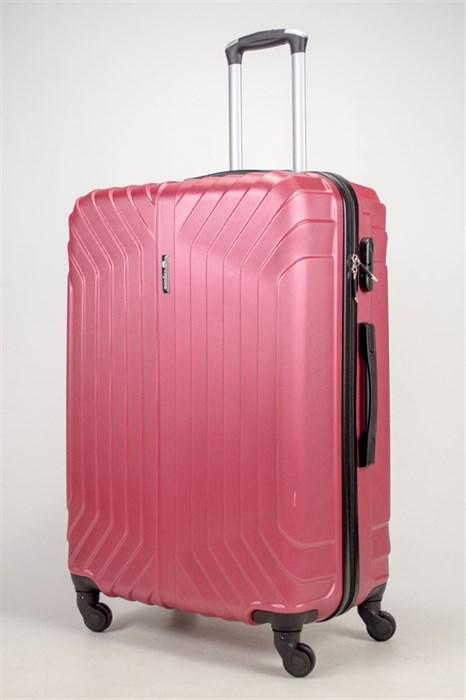 Чемодан большой ABS Корона (Лилия) бордовый ЧФ - фото 36972