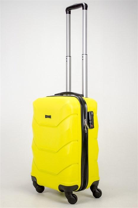 Чемодан маленький ABS Freedom желтый - фото 36995