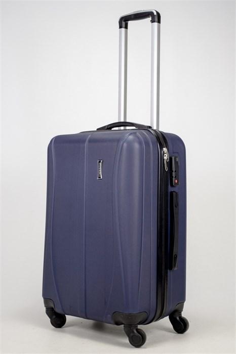 Чемодан средний ABS Freedom (трезубец) темно-синий (Ч) (2) - фото 37031