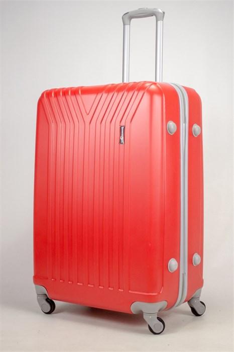 Чемодан большой ABS TT (У-образный) красный серая фурн. - фото 37068