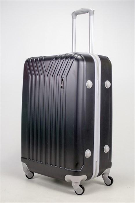 Чемодан большой ABS TT (У-образный) черный серая фурн. - фото 37080