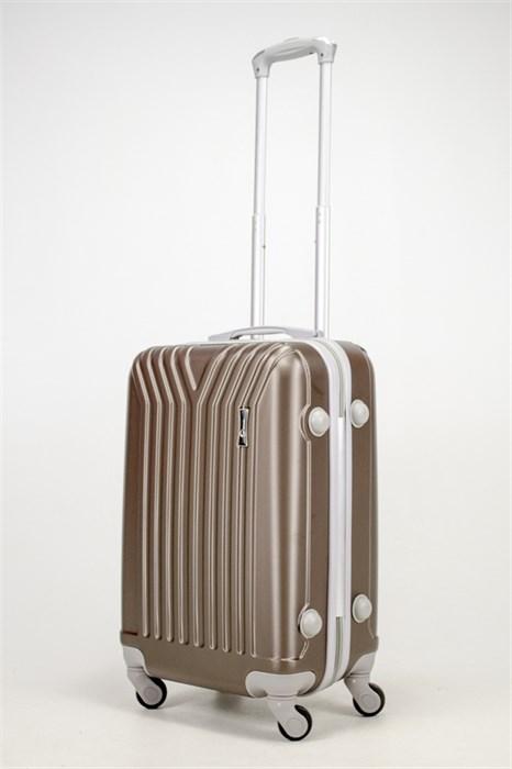 Чемодан маленький ABS У-образный коричневый СФ - фото 37158