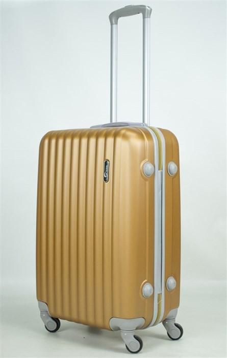 Чемодан средний ABS TT (верт  полоски) золотой (уценка) - фото 37188