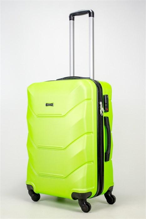 Чемодан средний ABS Freedom кислотно-зеленый (Ч) - фото 37206
