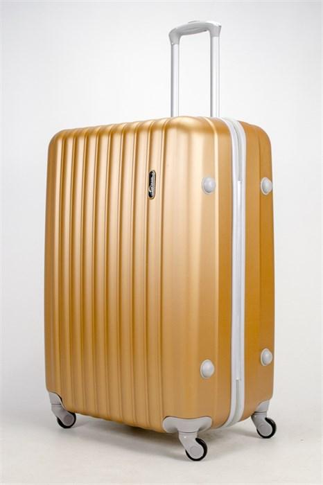 Чемодан большой ABS TT (верт  полоски) золотой  СФ - фото 37284