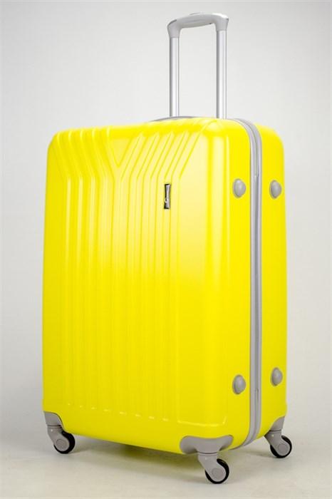 Чемодан большой ABS (У-образный) желтый СФ - фото 37308