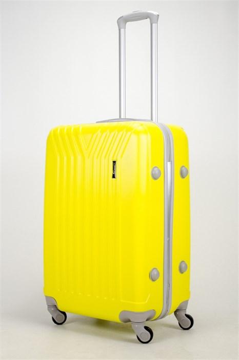 Чемодан средний ABS (У-образный) желтый СФ - фото 37314