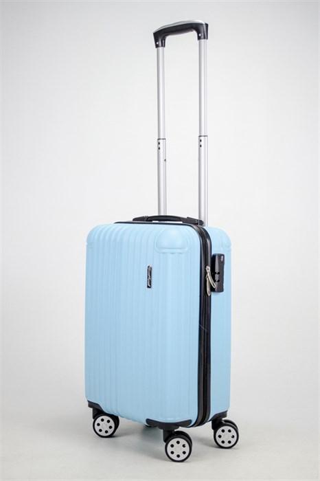 Чемодан маленький ABS ST (10 полос и уголки) голубой ЧФ - фото 37400