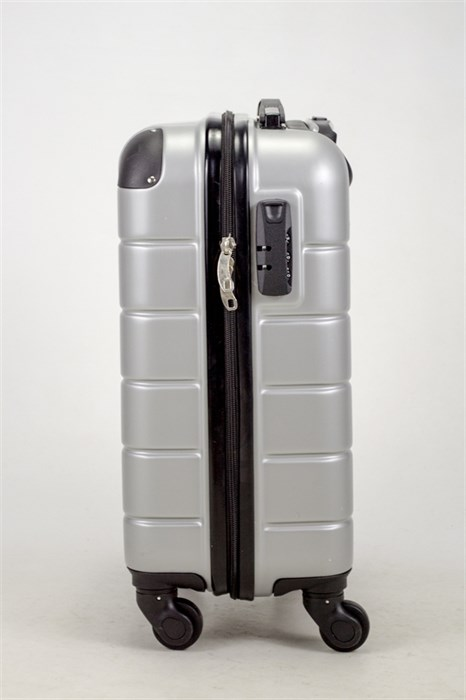 Чемодан маленький ABS Smart Travel серебро - фото 37461