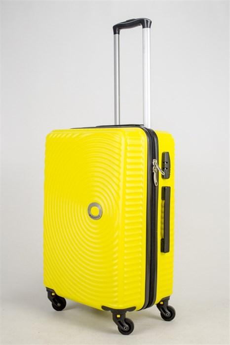 Чемодан средний ABS MIROPAN желтый (ч) - фото 37690