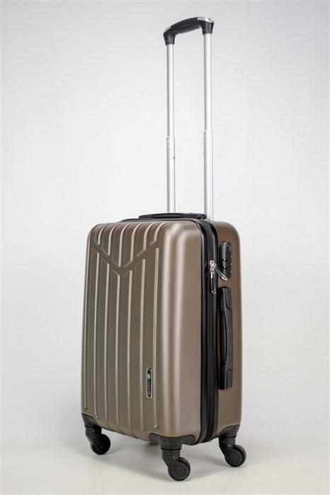 Чемодан маленький ABS Корона (буква М) коричневый (Ч) - фото 37734