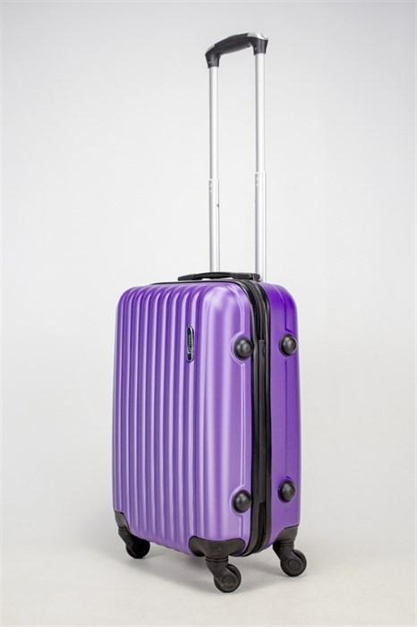 Чемодан маленький ABS TT (верт  полоски) фиолетовый - фото 37741