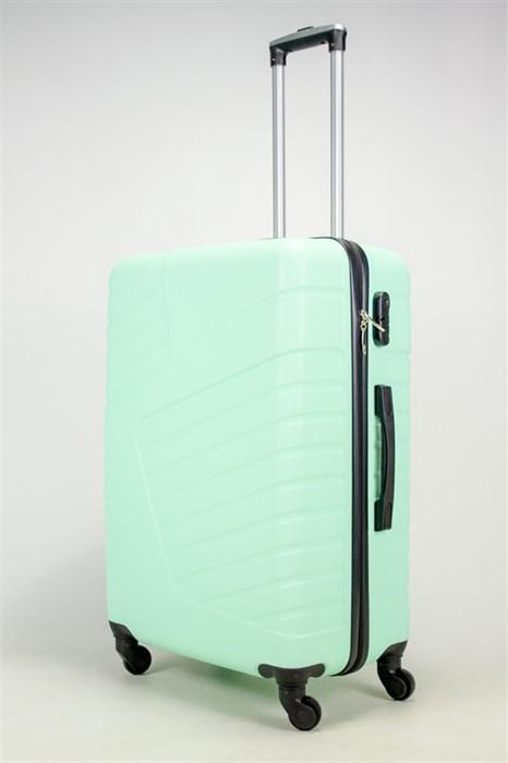 Чемодан большой ABS OCCE (вафли) мятный - фото 37820