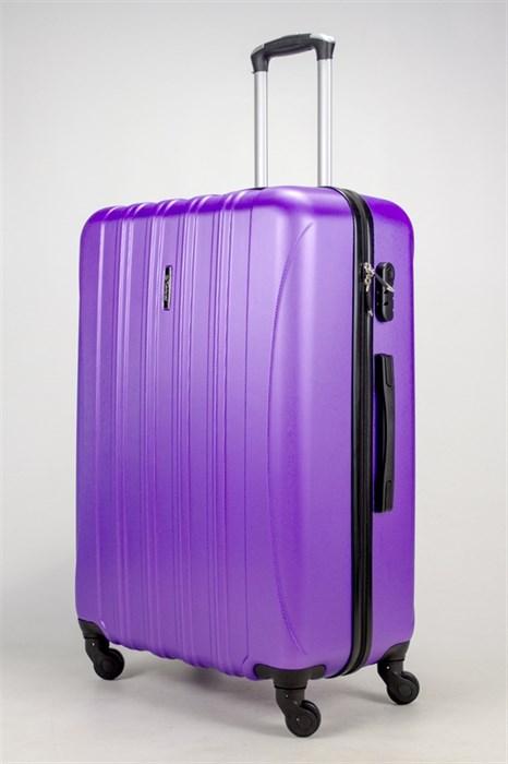 Чемодан большой ABS KK (5(4) полос)  фиолетовый - фото 37854